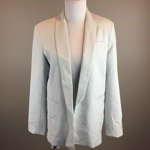 ASOS Gray Open Lined Blazer Jacket New